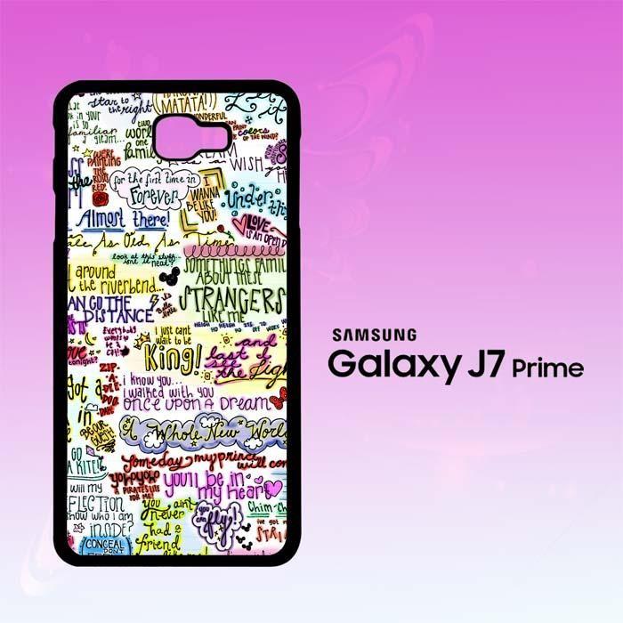 Disney Song Lyrics X4472 Samsung Galaxy J7 Prime Case | Products ...