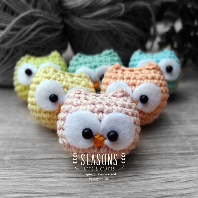 Closer look of the baby owl.  #amigurumi #owlamigurumi #babyowl #ravelry #crochet #handmade #cuteamigurumi #graytone #freeworkshop #amigurumiworkshop #workshopjakarta