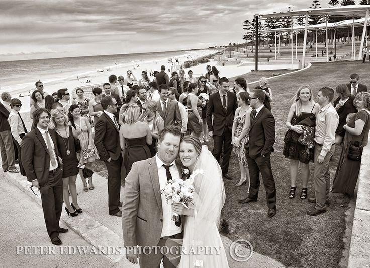 Beach wedding photos #perth #westernaustralia #beach #wedding #photography #sepia #weddingparty http://www.peteredwardsphotos.com.au