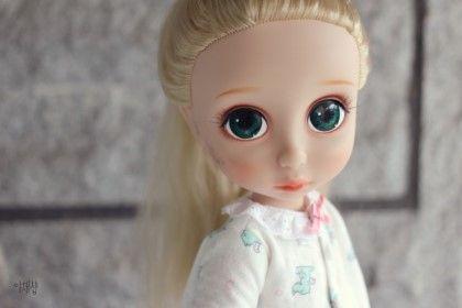 디즈니 베이비돌 리페인팅 animators collection Rapunzel repainting