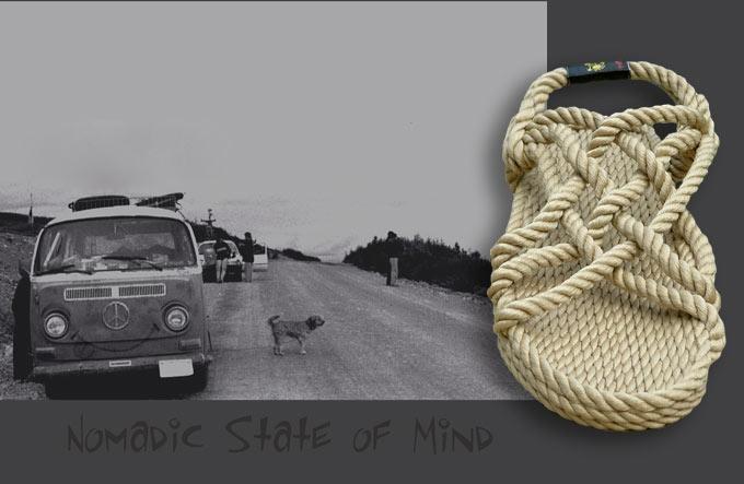 Sandały z liny- Ręcznie wykonane z miłością