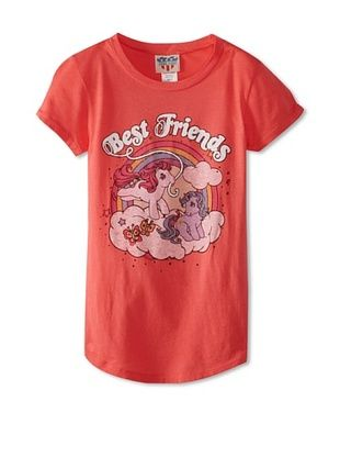 41% OFF Junk Food Girl's 7-16 Best Friends Pony Shirt with Glitter (Flto)