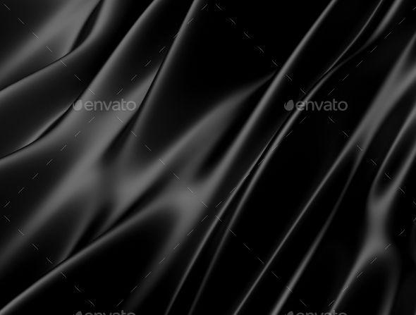 Abstract Texture Black Silk
