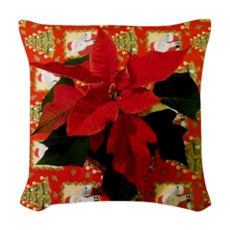 Christmas Woven Throw Pillow on CafePress.com