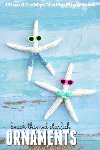 Beach Themed Starfish Ornaments - Christmas Gift Idea