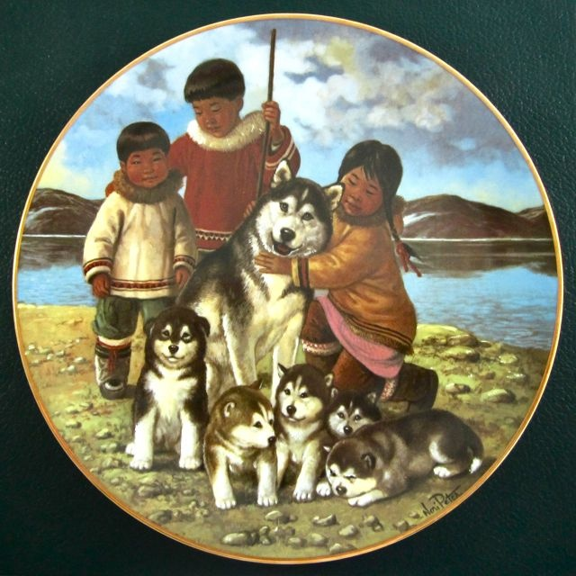 NORI PETER SIGNED 'Proud Mother' Arctic Spring plate #2 Anna Perenna 1984