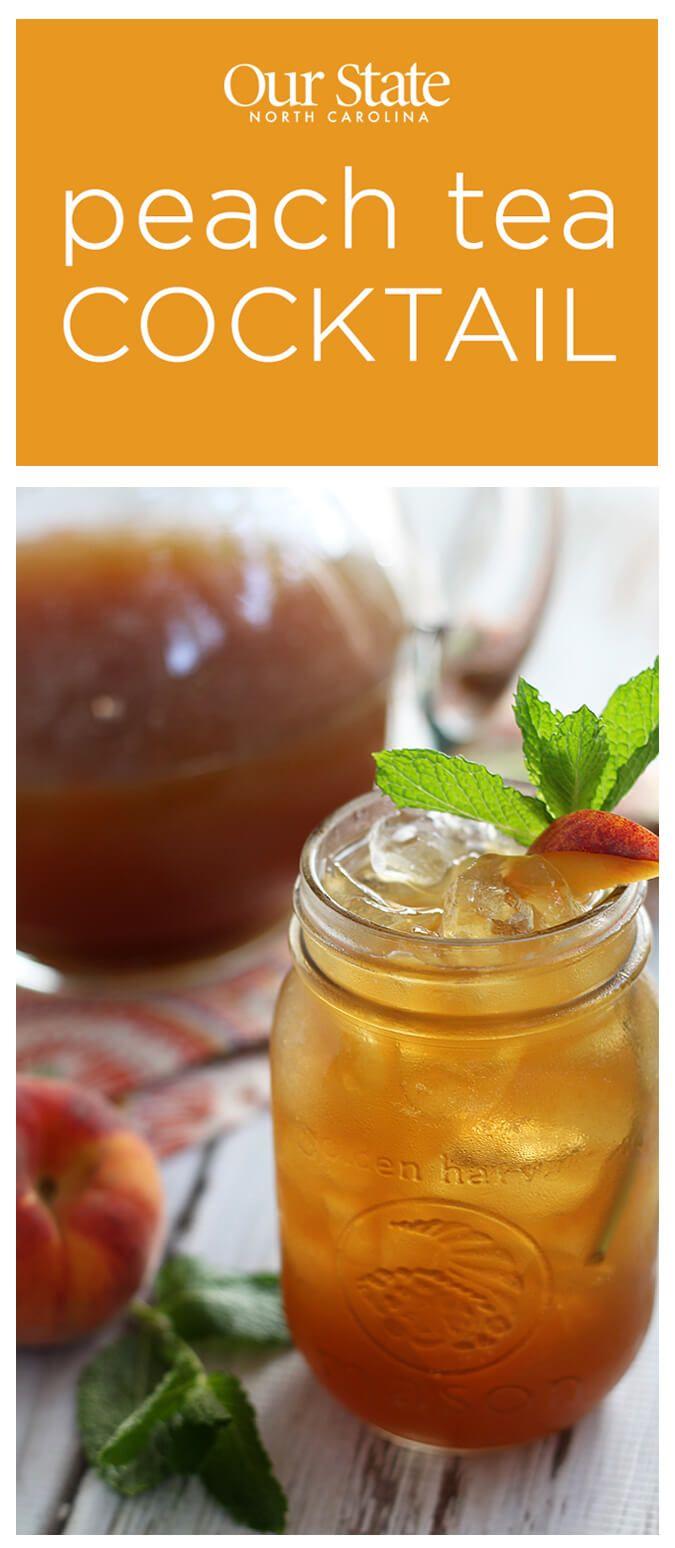 Peach tea cocktail recipe peaches cocktail recipes and teas