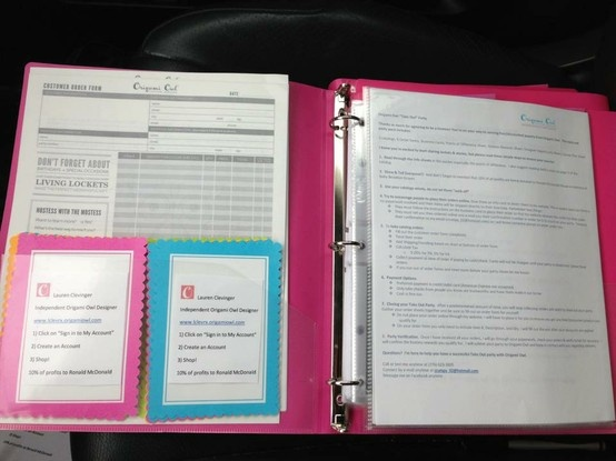 Great way to organize all of your fundraiser materials!