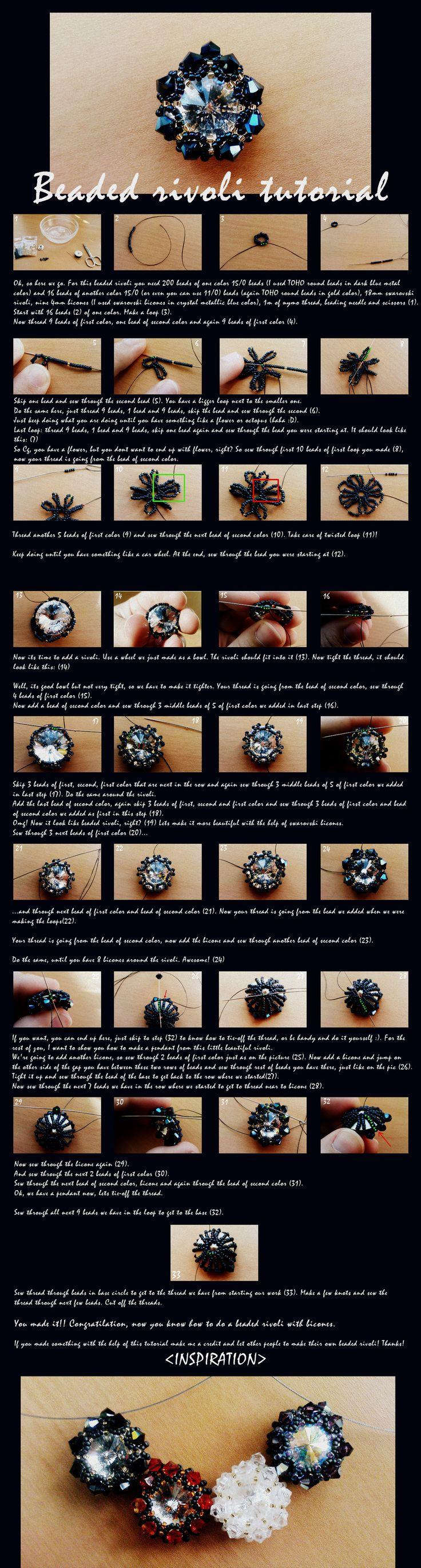 Rivoli pendant tutorial by C0rO9.deviantart.com on @deviantART