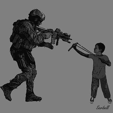 À armes égales... #algérie #algiers #artnumerique #art #artworks #digitalart #popart #Alger #digitalpainting #infographic #artgraph #illustration #Télévision #Internet #Info #Seribell #War #Child #Syria #palestine #graphicdesign #creative #World #stopwar #instagood #follow4follow