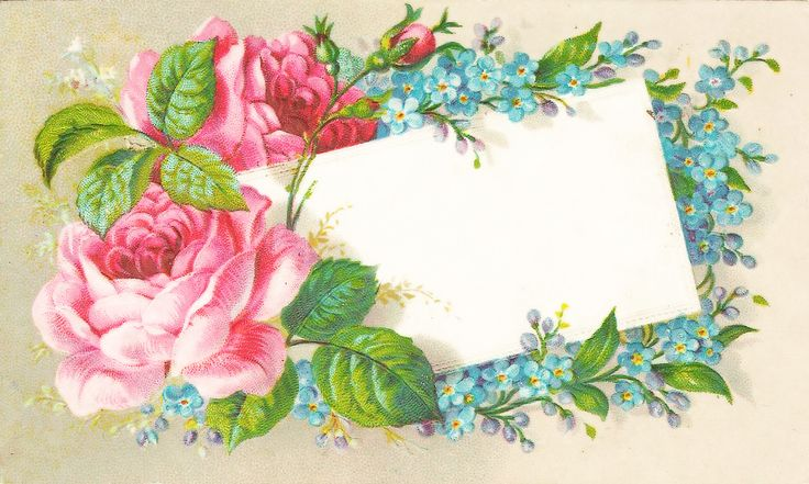 Free Vintage Victorian Rose Notecard Graphics