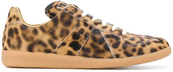 Maison Margiela leopard print sneakers