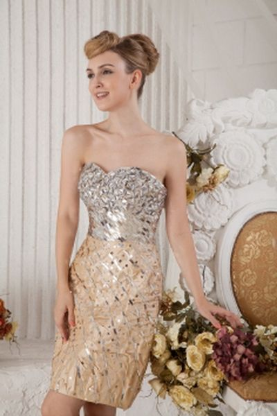 Taffeta Modern Sweetheart Prom Gown wr2056 - http://www.weddingrobe.co.uk/taffeta-modern-sweetheart-prom-gown-wr2056.html - NECKLINE: Sweetheart. FABRIC: Taffeta. SLEEVE: Sleeveless. COLOR: Silver , Yellow. SILHOUETTE: Sheath/Column. - 137.59