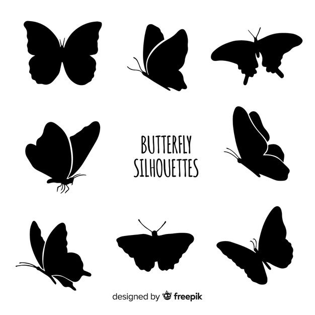 Flying Butterflies Silhouettes Silhouette Butterfly Butterflies Vector Silhouette Clip Art