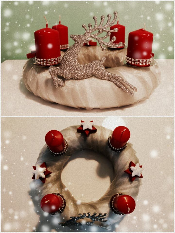 "Adventní věnec ""Jelen"" (Advent wreath ""Deer"")"