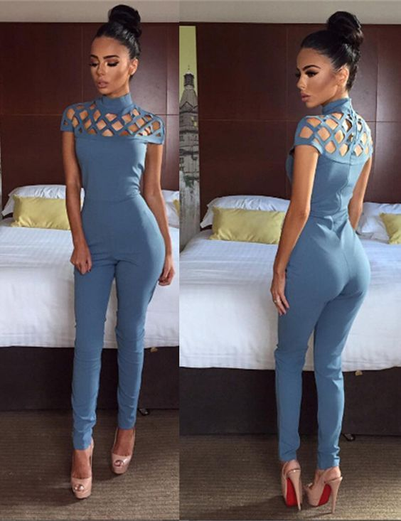 Sexy O-Neck Short Sleeve Jumpsuit https://bellanblue.com/collections/new