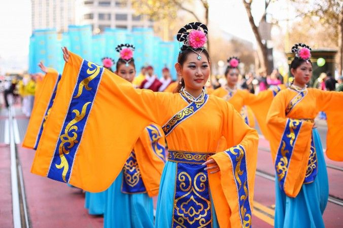 Over 5,000 practitioners and supporters of Falun Gong march in a parade in San Francisco on Oct. 22, 2016, bringing awareness to the practice and calling for an end to the persecution in China that started on July 20, 1999. (Benjamin Chasteen/Epoch Times)