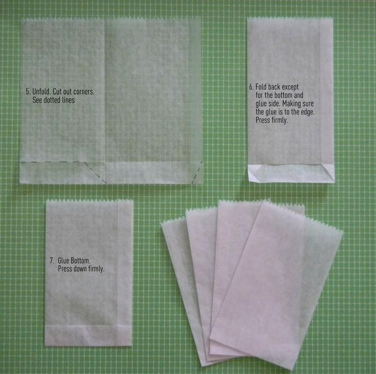 Paper Crafts: DIY Dry Wax Paper Bags