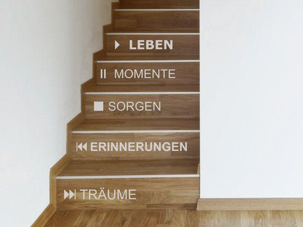 Spectacular Idee f r moderne Treppenstufen Die Elemente des Wandtattoos Play k nnen einfach auseinandergeschnitten und als