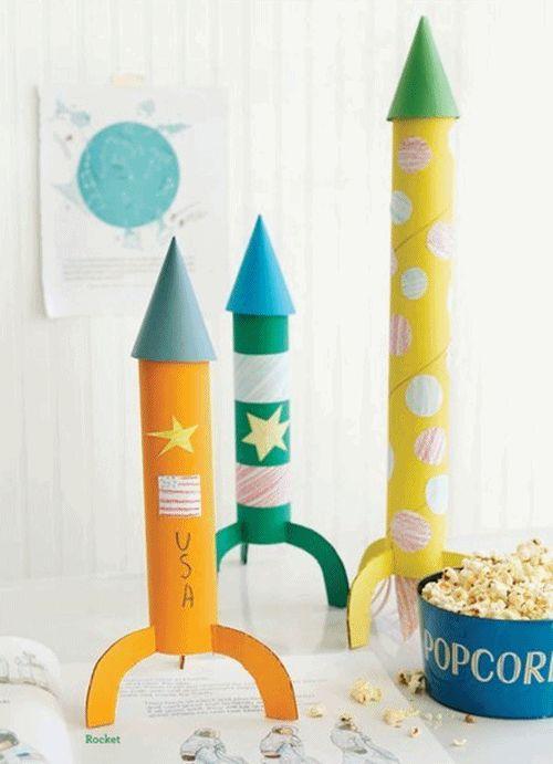 Manualidades con niños para hacer cohetes DIY