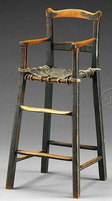 New England Chippendale High Chair- last quarter of 18th century ****