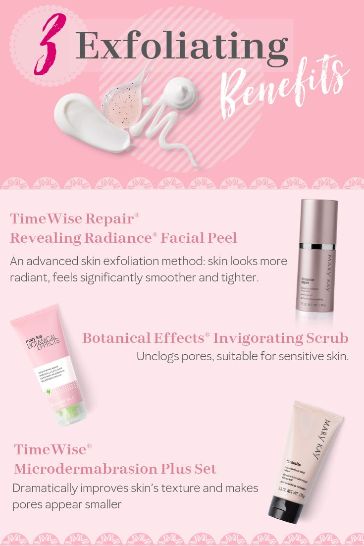 Discover the benefits of each of Mary Kay's exfoliating products.