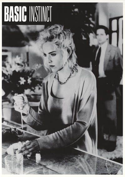 Basic Instinct Sharon Stone Ice Pick Movie Poster 25x35