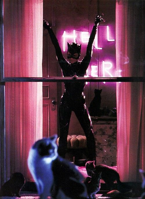 "Michelle Pfeiffer as Catwoman. So badass. ""I don't know about you, Miss Kitty, but I feel so much yummier"""