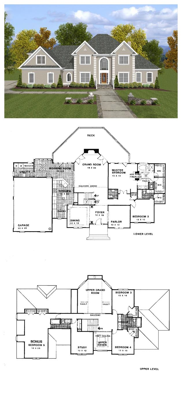 European House Plan 92456 Stucco Exterior Traditional