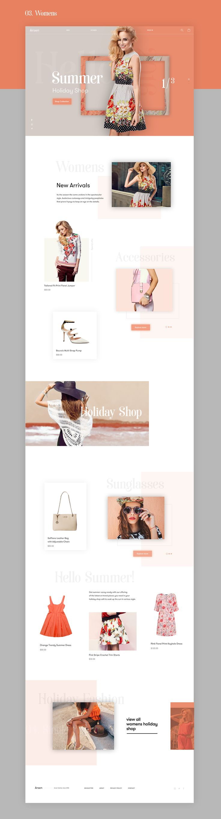 Arsen Fashion Store on Behance