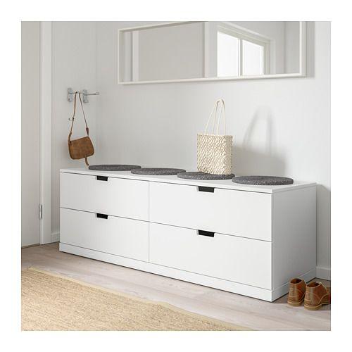 NORDLI Kommode 4 skuffer - hvit - IKEA