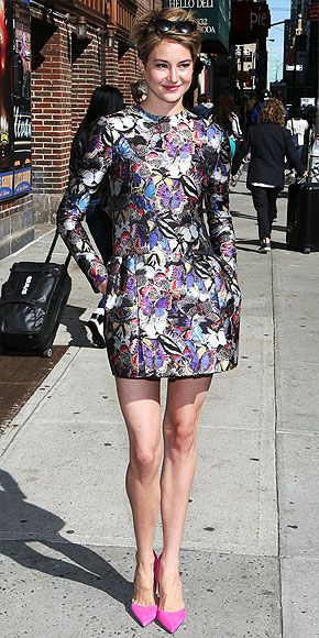 The Most Coveted Looks of the Year | SHAILENE WOODLEY'S VALENTINO | Loni Venti, Style and Beauty Editor: You know that a collection is smoking hot when tons of A-listers wear it. Case in point: the stunning butterfly-print dress seen on Shailene (plus Jennifer Lopez, Blake Lively, Alexa Chung and Kris Jenner). This long-sleeved, flared version is the one I'd pick if it didn't cost half a year's worth of rent. The pattern manages to be whimsical, romantic and edgy all at once, and it's the…