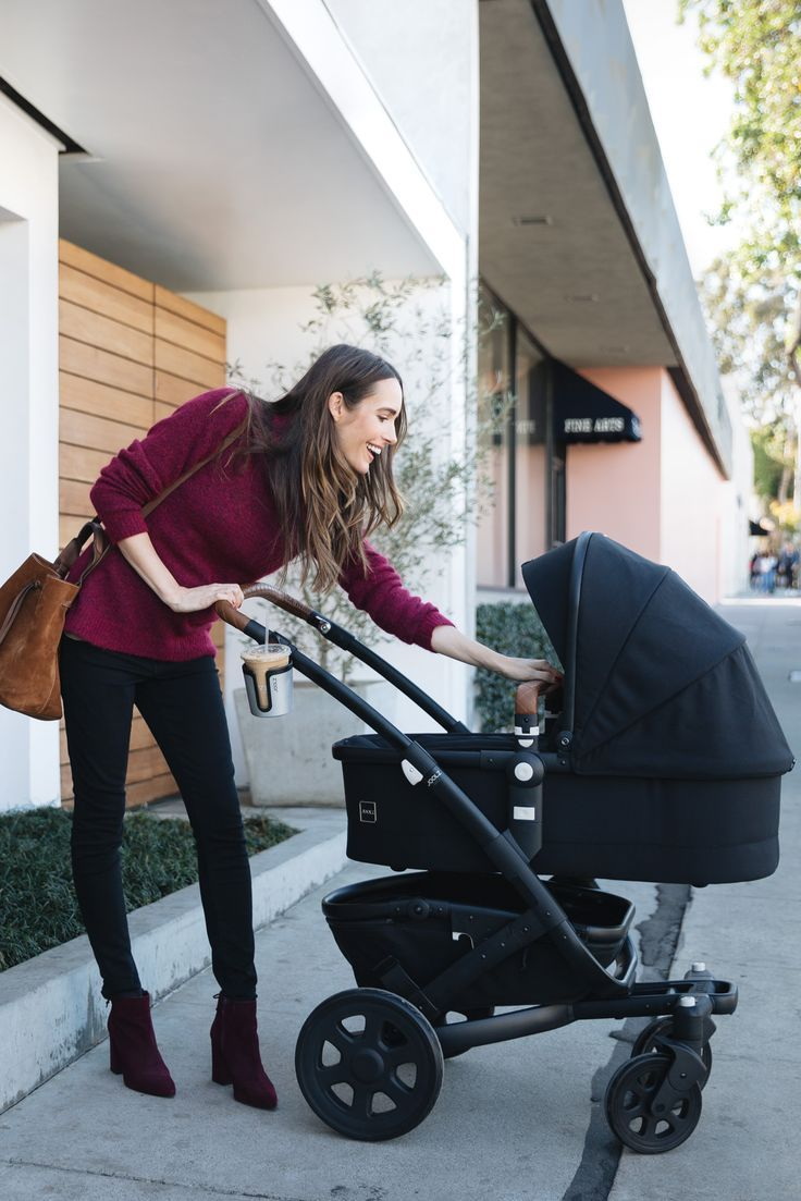 Louise Roe with Joolz Baby Stroller in Los Angeles Baby