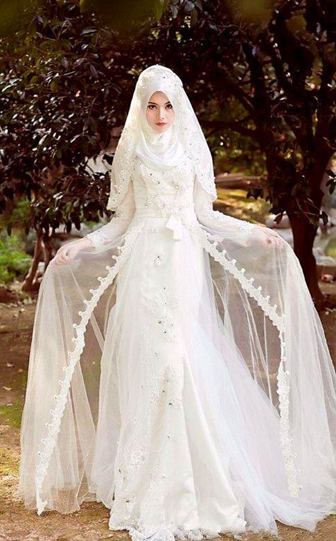 Elegant Muslim Wedding Dress
