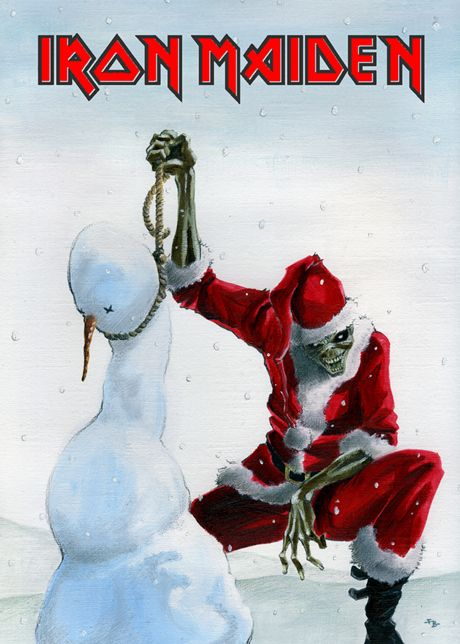 Iron Maiden with christmas by Jespinator.deviantart.com