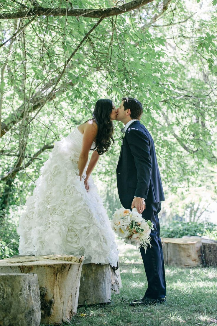 #MoniqueLhuillier Wedding Gown | D.Lillian Photography | #SMP Weddings: http://www.stylemepretty.com/california-weddings/guerneville/2013/12/04/guerneville-wedding-from-d-lillian-photography/