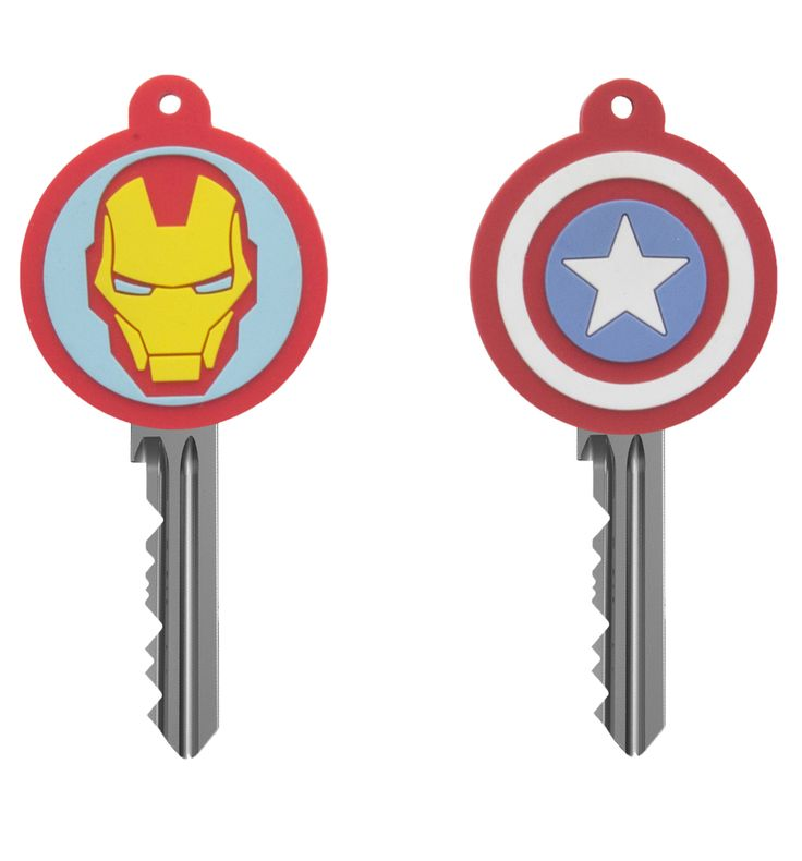 Marvel Comics Key Covers Are you team Cap or team Stark? Theres no need to choose with this super-cool key cover set! Featuring the striking image of Iron Mans red and yellow helmet and Captain Americas iconic red, white and  http://www.MightGet.com/may-2017-1/marvel-comics-key-covers.asp