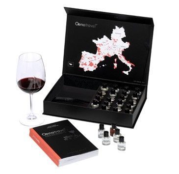 Oenotravel Wine aroma kit: 24 aroma flasks to help train you to recognize the scents of over 50 European wines