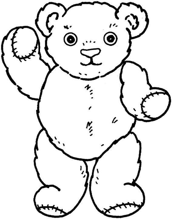 bear coloring pages preschool - teddy bear coloring page preschool songs pinterest