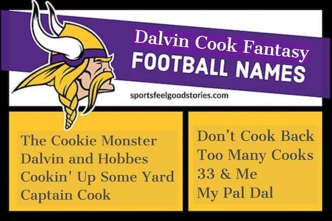 Dalvin Cook Fantasy Team Names Minnesota Vikings Football Nfl In 2020 Fantasy Team Names Fantasy Team Minnesota Vikings Football