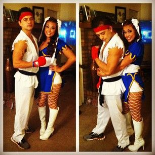 Ryu and Chun-Li from Street Fighter. | 50 Couple Costume Ideas To Steal This Halloween