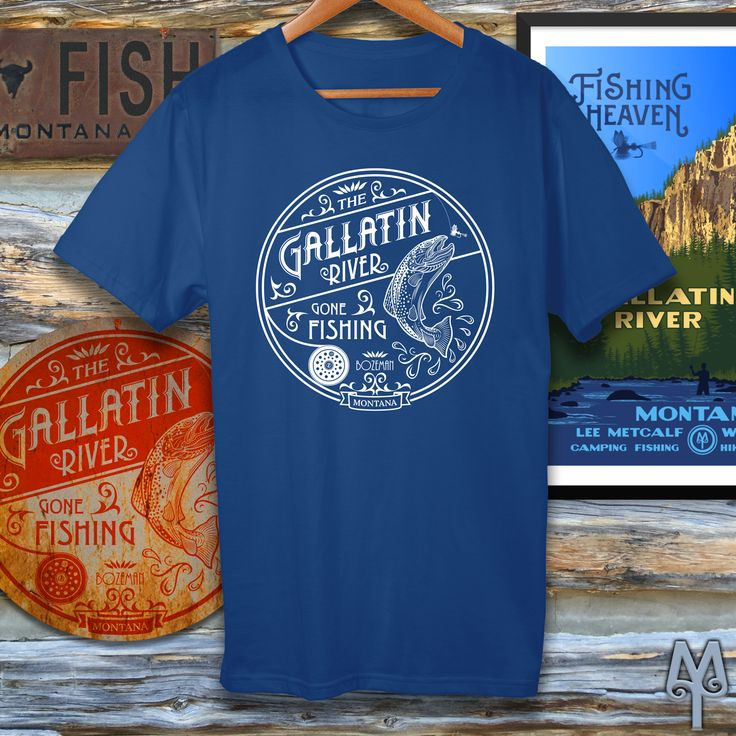 Is this the year you fly fish the famed Gallatin River? Get psyched for your trip with authentic Montana Treasures apparel and cabin decor, including Gallatin River T-shirts, ball caps, posters, and wall signs. Shop now! :)
