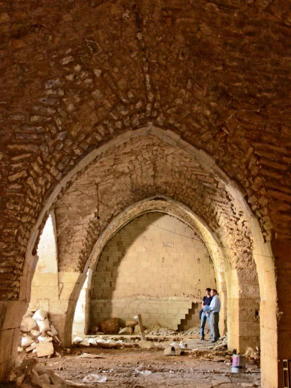 1,000-year-old Crusaders hospital constructed by the Order of St. John of the Hospitallers found in the Christian Quarter of the Old City of Jerusalem (Yoli Shwartz / Israel Antiquities Authority).