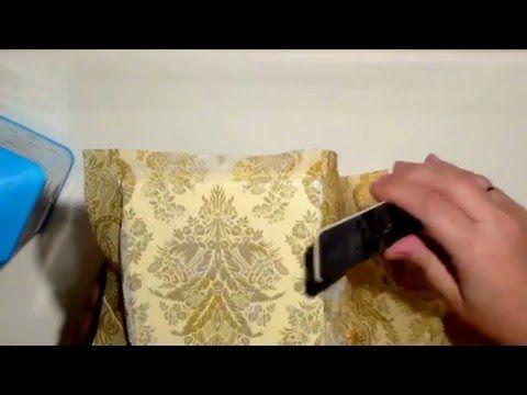 Приклеивание салфетки солевым методом в декупаже. - YouTube