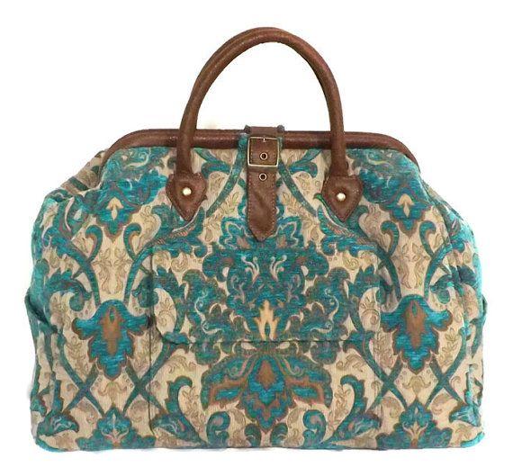Mary Poppins stijl grote aangepaste tapijt tas / reistas