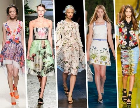 Spring/Summer Fashion Trends 2014 For Her - Flower Power Style