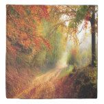 Funda nórdica Otoño Country Road Orange Green Leaves Morning Mist | Zazzle.com   – Eclectic Pastime