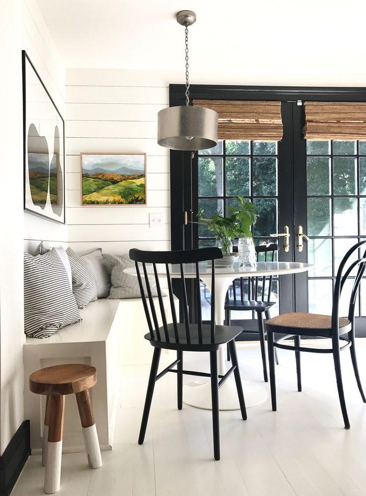 kitchen-nook-banquette-saarinen-table-tulip-table-shiplap-tucker-chairs