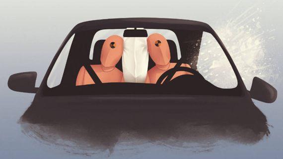 В автомобилях вскоре может появиться центральная подушка безопасности   Новости автомира на dealerON.ru