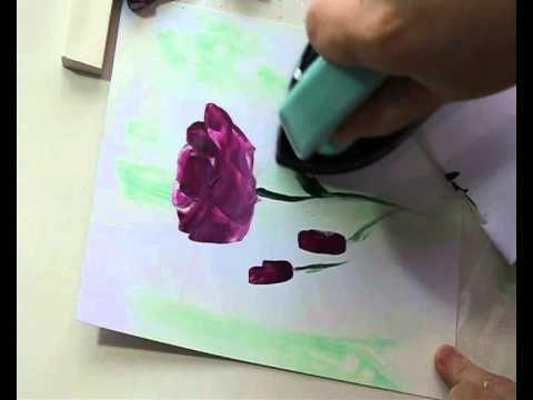 Encaustic Art Flower Painting : Roses by Art In Wax - YouTube